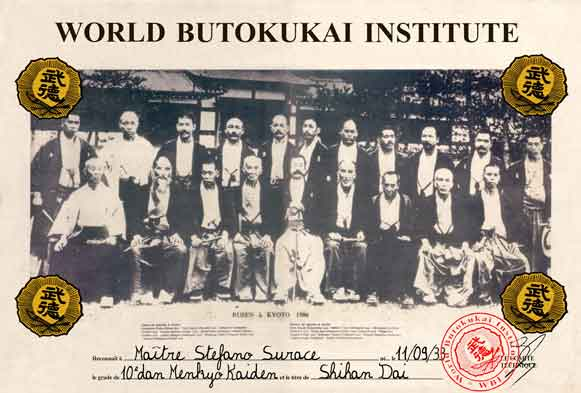 Diploma World Butokukai Institute