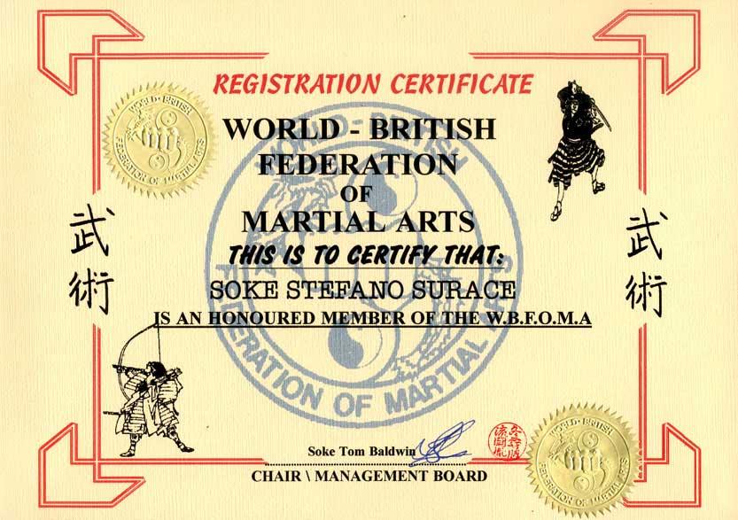 Diploma British federation of M.A.