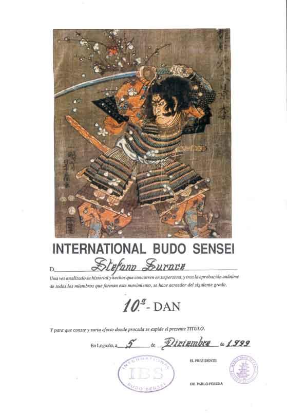 International Budo Sensei