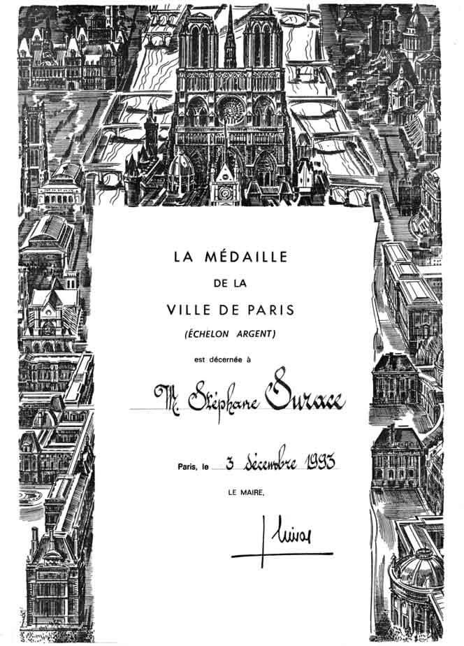 Diploma Chirac 1993
